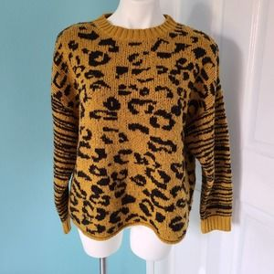 For the Republic Animal Print Sweater size Small